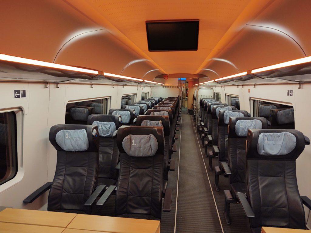 Deutsche Bahn 1. Klasse - So sieht sie im ICE 4 aus.